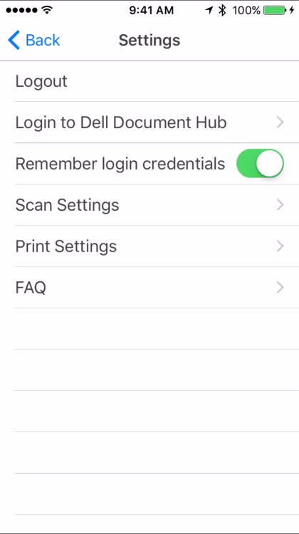 Access documents from Dell's Document Hub
