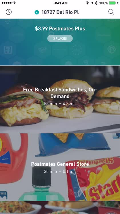 Get anything through Postmates