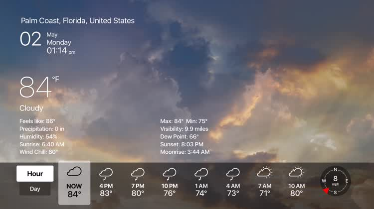 Attractive weather details