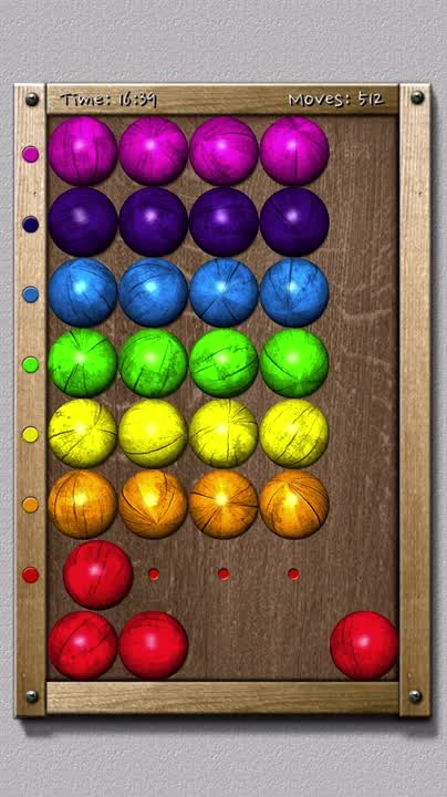 Match colored balls with the colors on the board