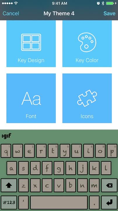 Create a new theme_ icons on the keyboard