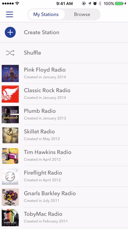 Creating your own Pandora Station