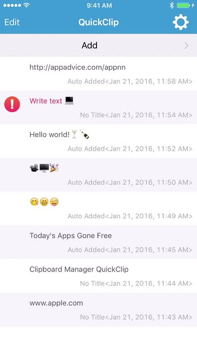 You can access QuickClip by Notification