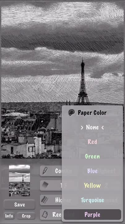 Select the paper color