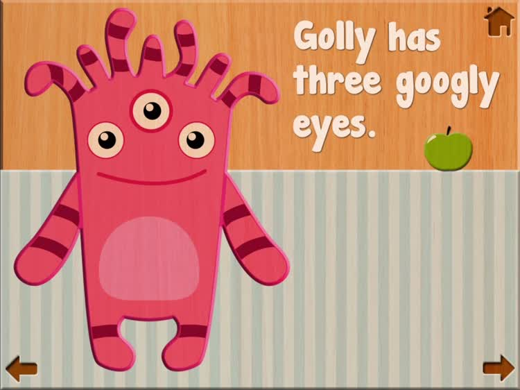 Learn to recognize the numbers and count with Cutie Monsters