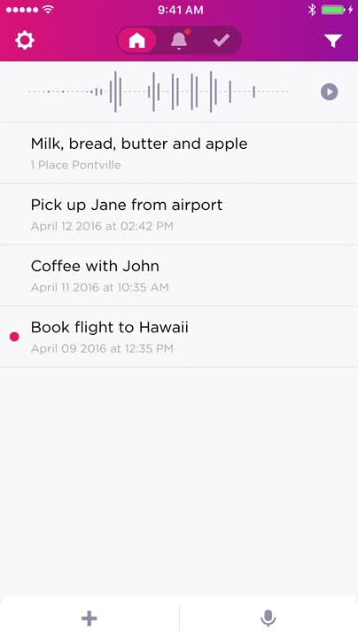 Create notes, reminders with just a few taps