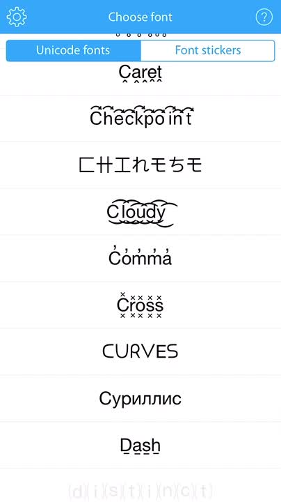 Lots of fonts to choose from