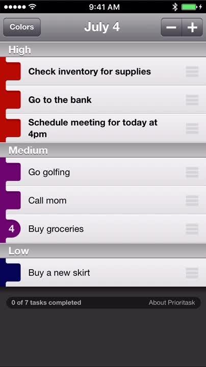 Efficient task manager