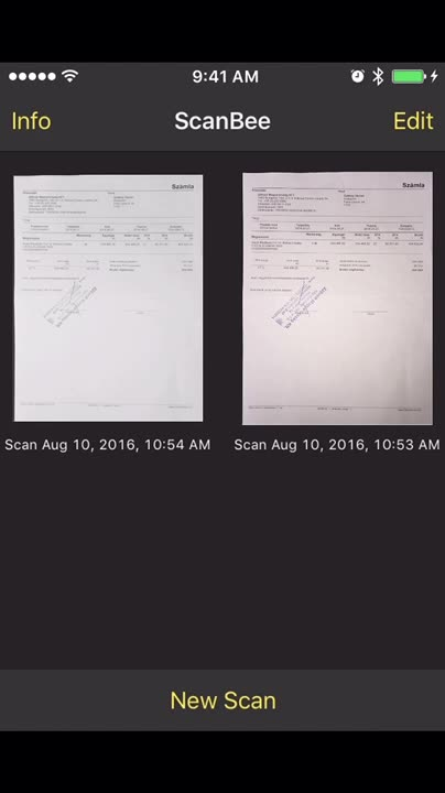 Scan and save documents