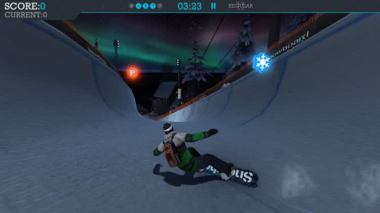 Half Pipe Action