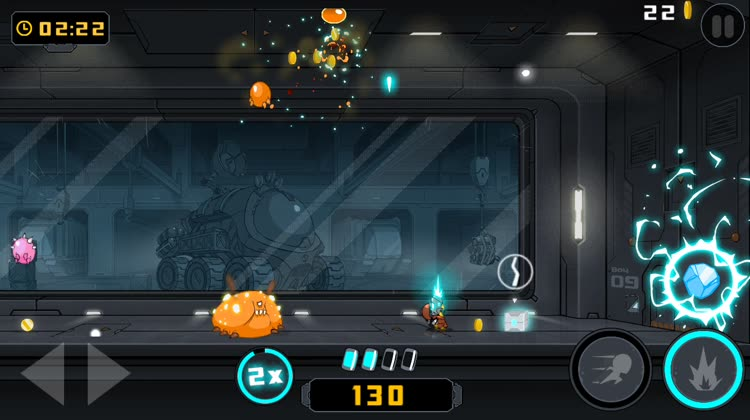 Frantic bug-zapping action