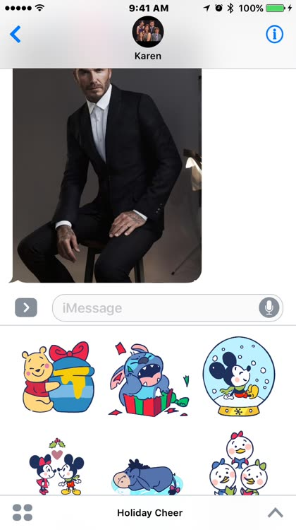 Send adorable Disney holiday iMessage stickers to your friends