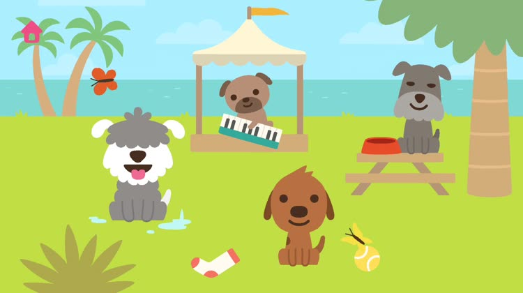 Sago Mini Puppy Preschool Home Screen