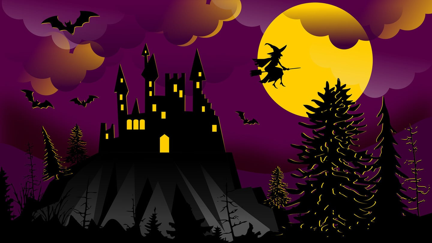 Halloween Witch Bats Haunted