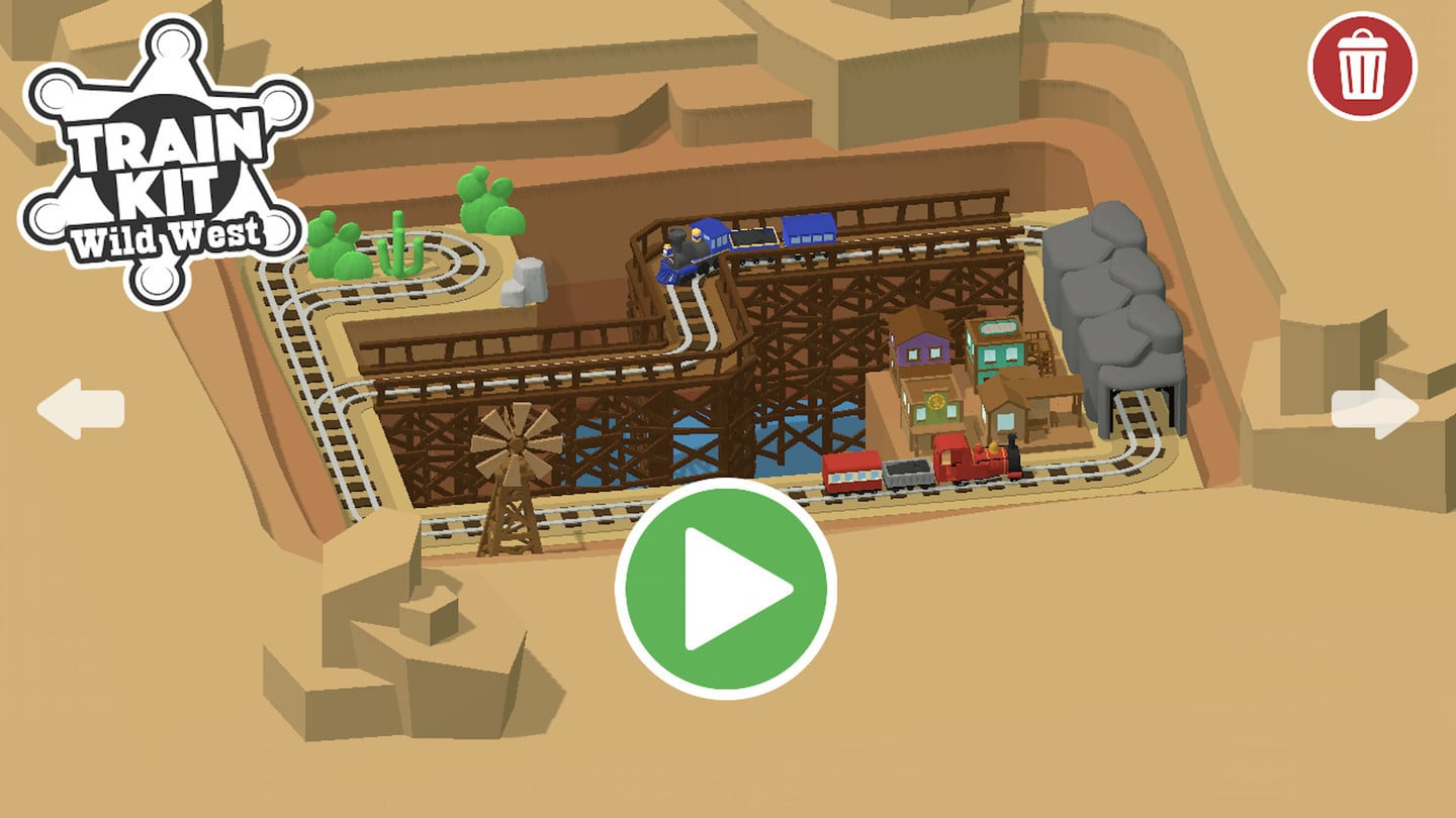 Kids Can Build Their Own Railroad in Train Kit: Wild West