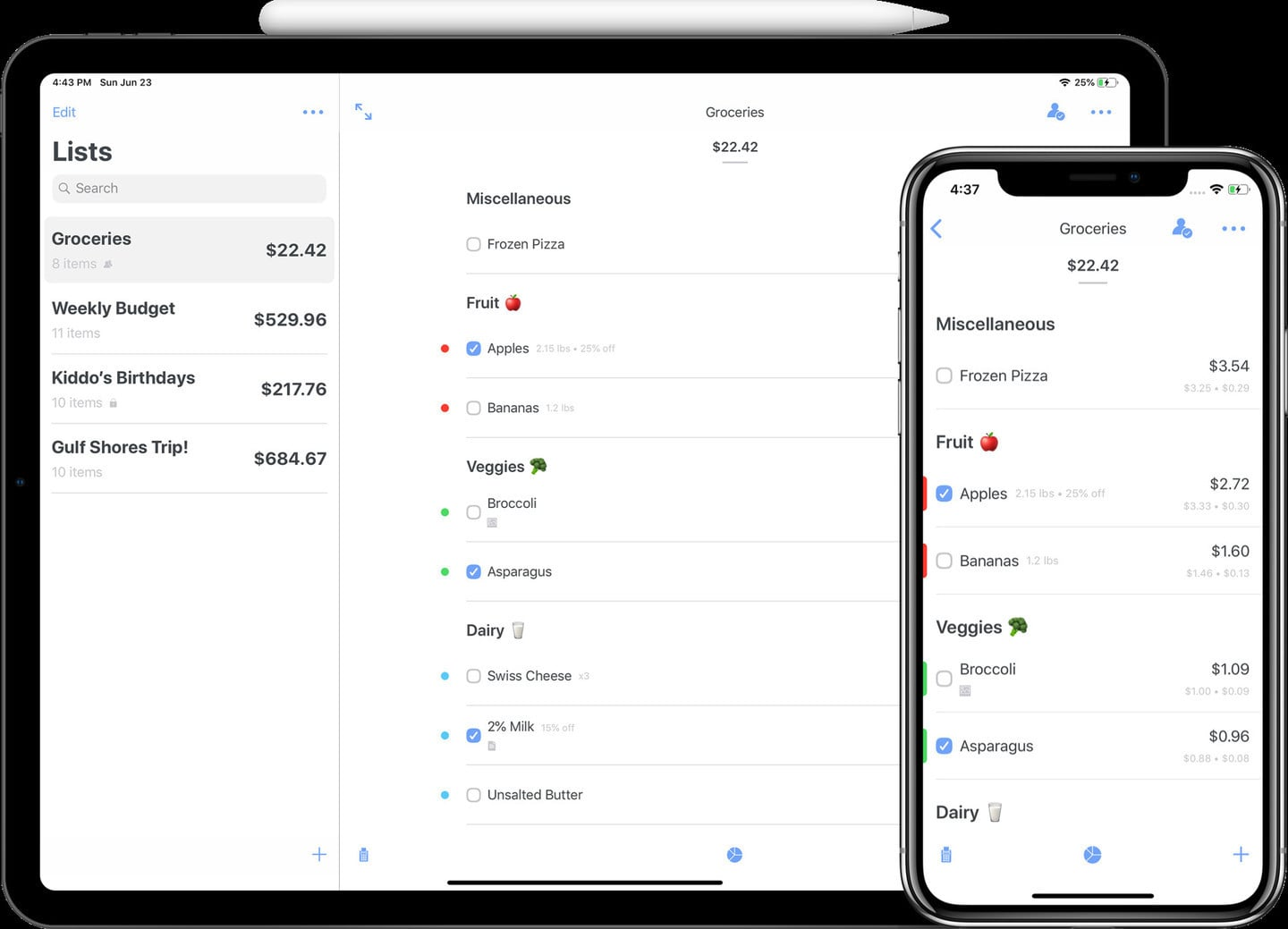 Spend Stack Helps You Keep An Accurate Running Total With Smart Lists