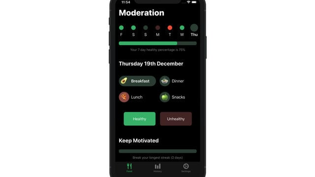 Moderation is a Simple and Easy-to-Use Food Diary