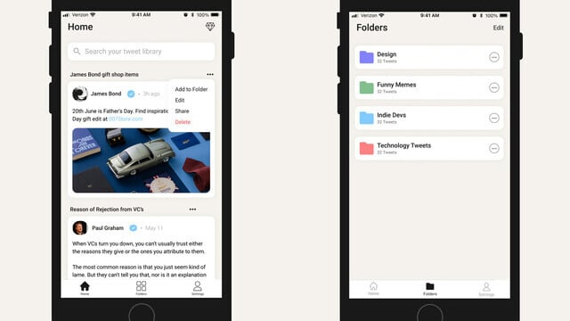 Tweet Catcher is a Great Twitter Bookmark Manager