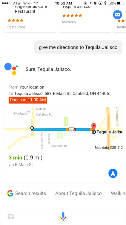 Get Directions Sent to Google Maps