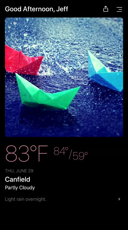 Customize your weather display