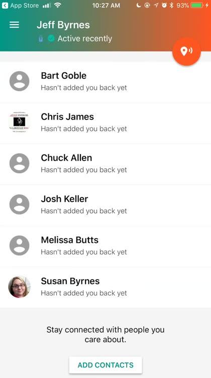 Change contact settings