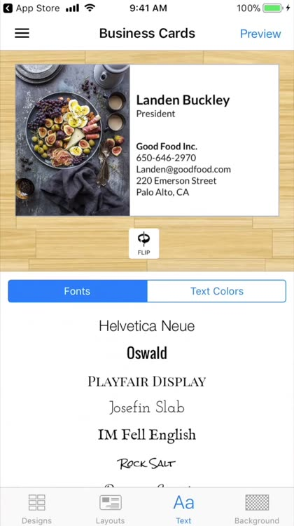 Business card maker logo app by aeos technologies inc app details reheart Image collections