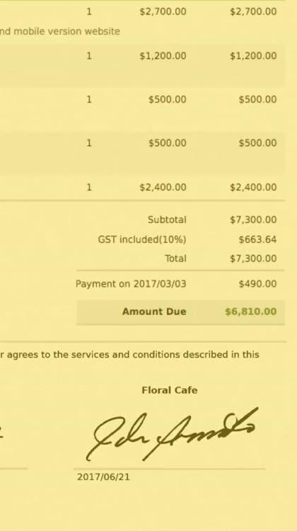 Invoice Bee Estimate Maker Go By Invoice Bee Pty Ltd - Best invoice and estimate app