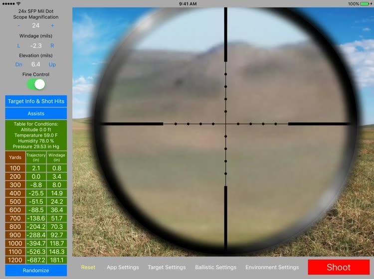 long range shooting simulator app