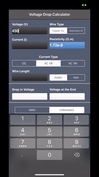 Voltage drop calculator by v pugazhenthi greentooth Images