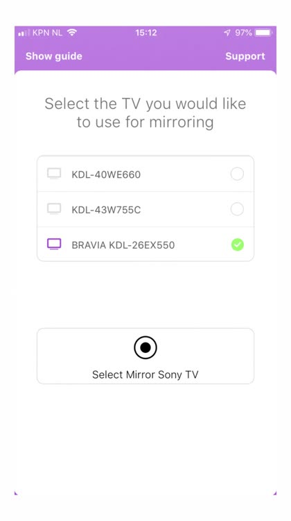 Mirror for Sony Smart TV by AirBeamTV BV