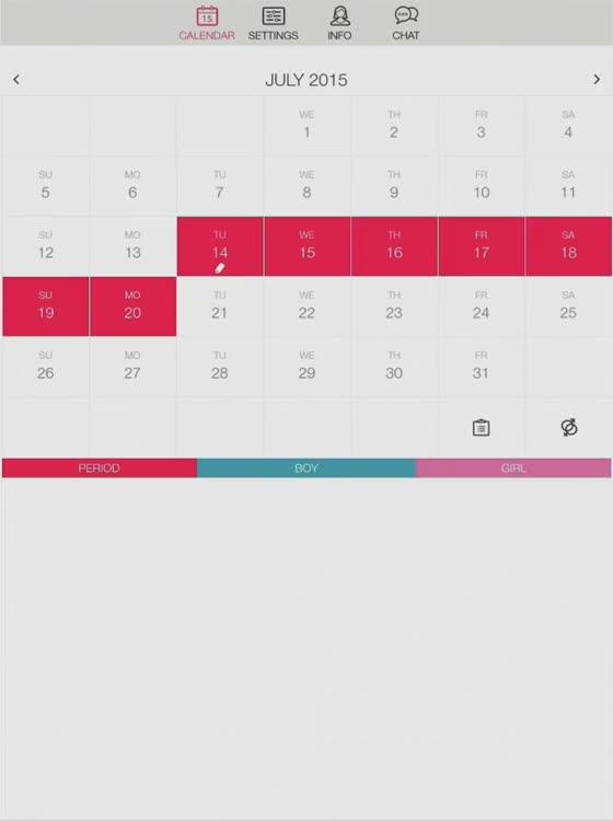 Menstrual Cycle Calendar.Ladytimer Period Calendar By Vipos Com