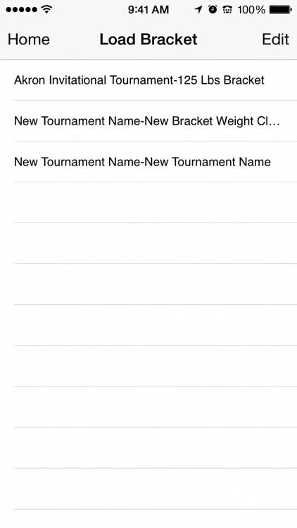 wrestling bracket maker by independent design studios llc