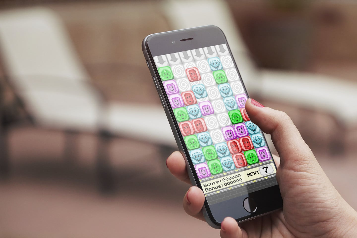 Blocktactic is a Surprisingly Challenging Match-Three Strategy Game