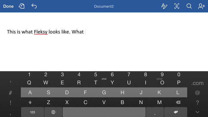 Fleksy features a number of great customizable options.