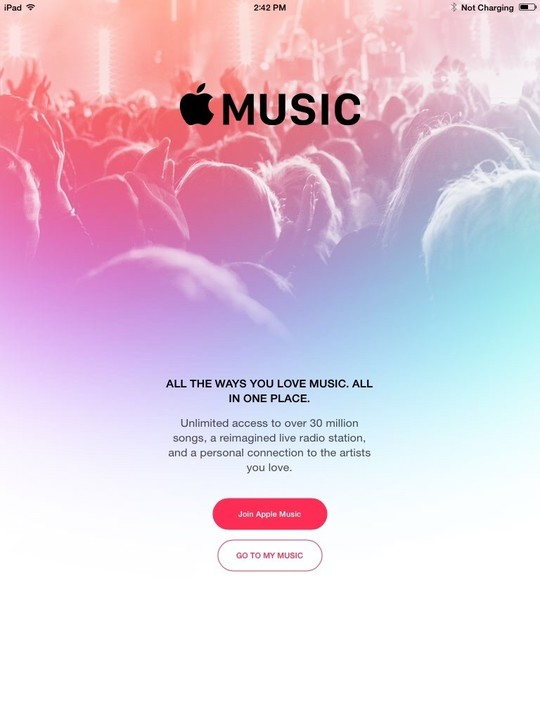 Cupertino has made it easy to sign up for Apple Music.