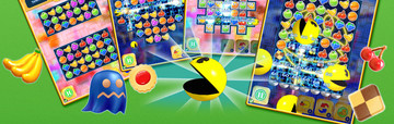 Pac-Man goes on a Puzzle Tour and takes on Candy Crush Saga
