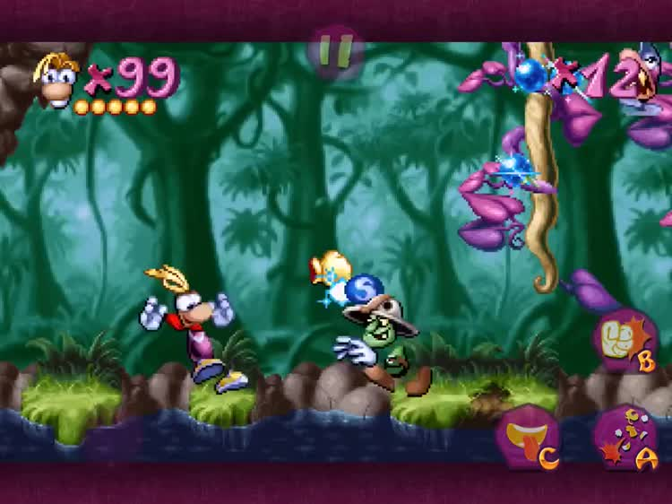 Rayman's fist is mighty, so use it to punch
