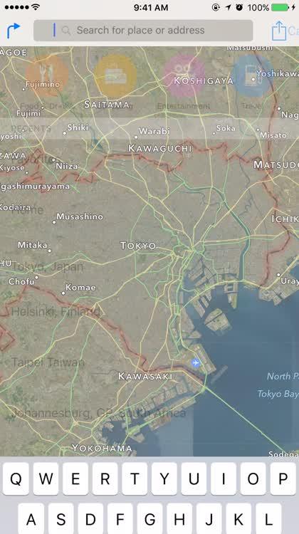 Apple Maps Nearby Japan