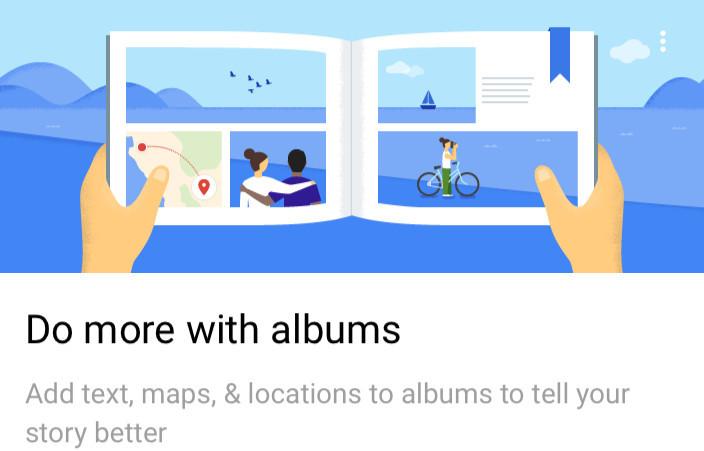 how to create new album in google photos