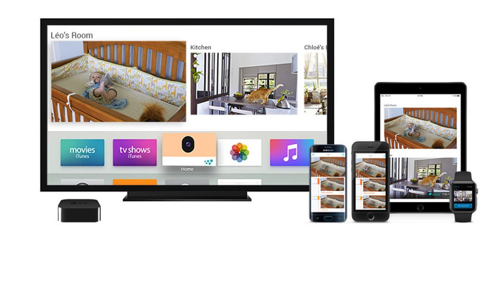You can take a quick peek at your house through an iOS device, Apple Watch, and even the Apple TV.