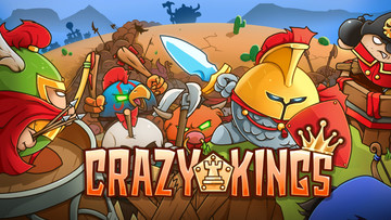 Crazy Kings takes tower defense and adds a collectible card game twist