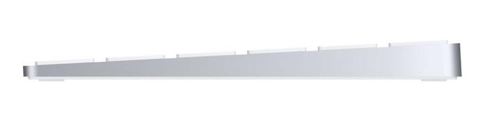 Apple's keyboard has a slim profile