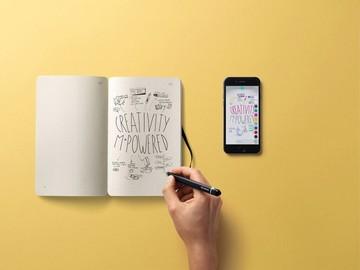 Moleskine's smart pen digitizes notes written on actual paper
