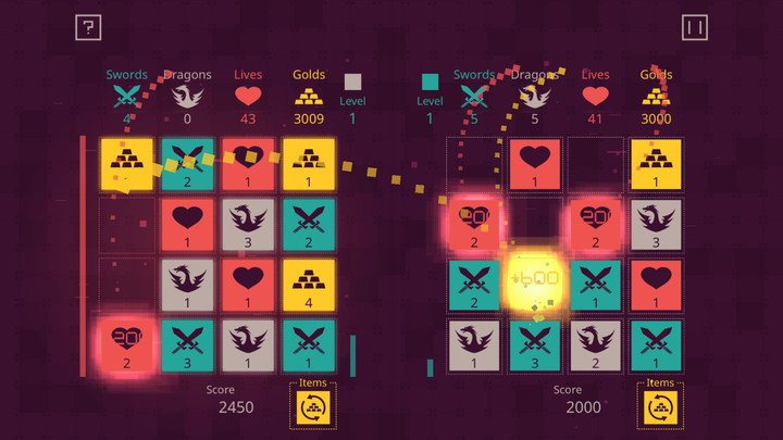 Dungeon Tiles two-player mode