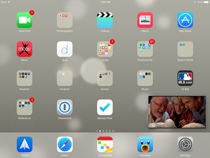 Your iPad will need to have iOS 9.3.2 installed for Picture in Picture support.
