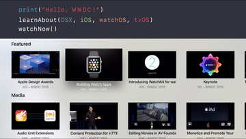 Apple Updates the WWDC App with a New Design and tvOS Compatibility