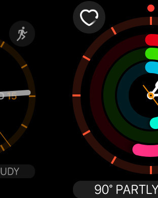 Switching watch faces is much easier with a swipe gesture from the edge of the screen.