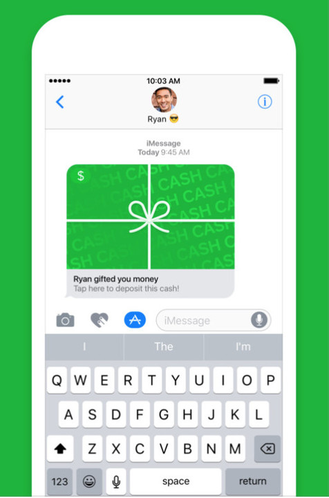"""You can """"gift wrap"""" cash payments through iMessage."""