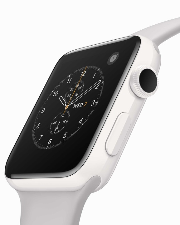 The Series 2 Apple Watch Edition is made with ceramic that's four times as hard as stainless steel.