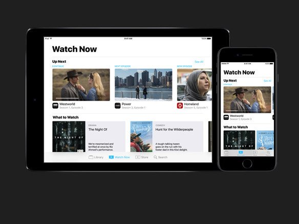TV will also be available on the iPhone and iPad.
